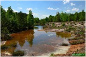 Geopark Łęknica, kolorowe jeziorka