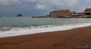 Petrovac, plaża żwirkowa