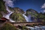 Norwegia Wodospad Latefossen 2